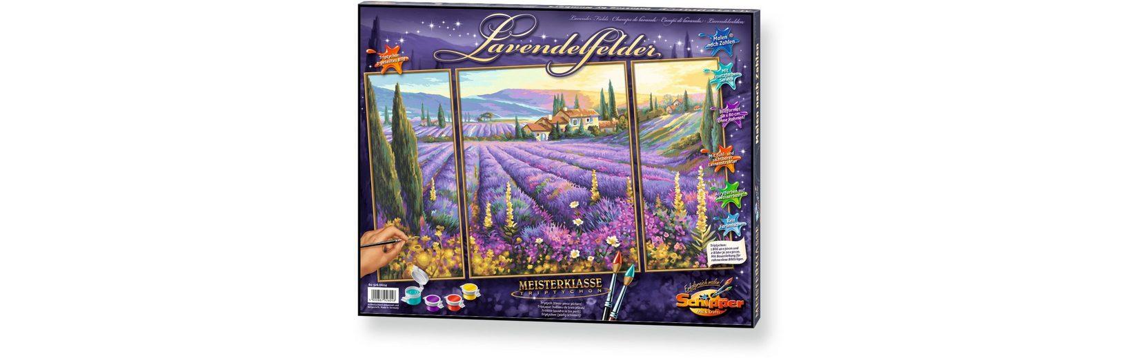 Schipper Malen nach Zahlen, »Meisterklasse Triptychon Lavendelfelder«