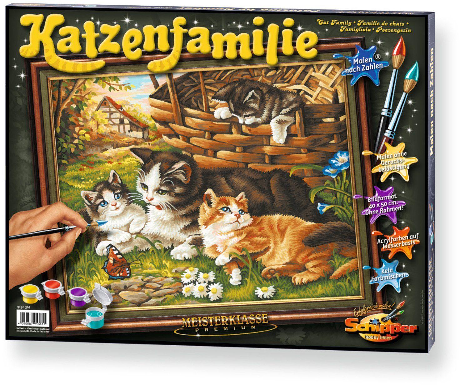 Schipper, Malen nach Zahlen, »Meisterklasse Premium Katzenfamilie«