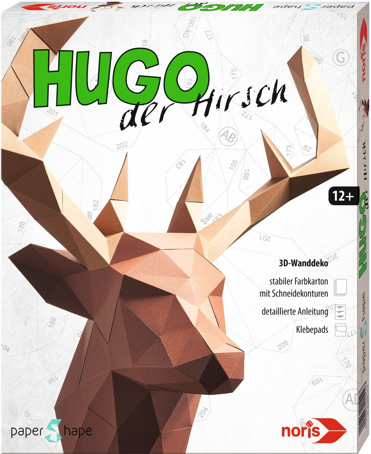 Noris Bastelset, »Papershape Hirsch Hugo«