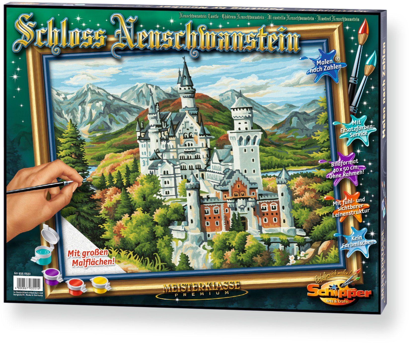Schipper Malen nach Zahlen, »Meisterklasse Premium Schloss Neuschwanstein«