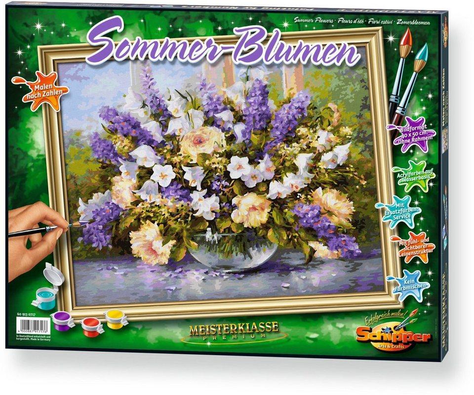 Schipper Malen nach Zahlen, »Meisterklasse Premium Sommerblumen«
