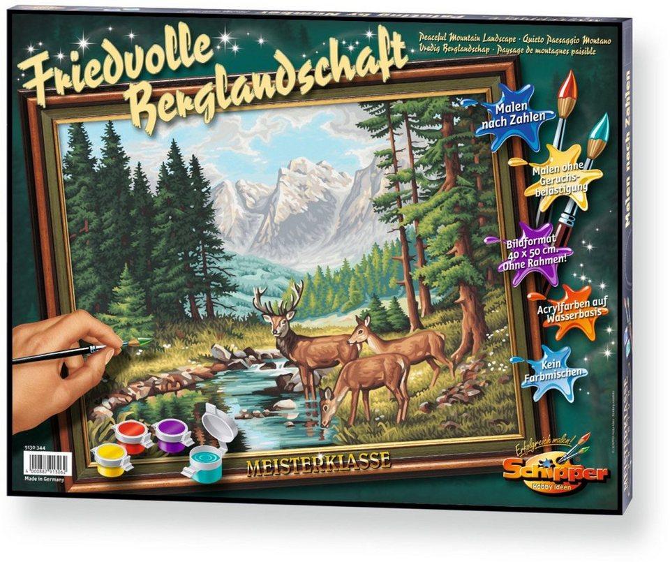 Schipper Malen nach Zahlen, »Meisterklasse Premium Friedvolle Berglandschaft«