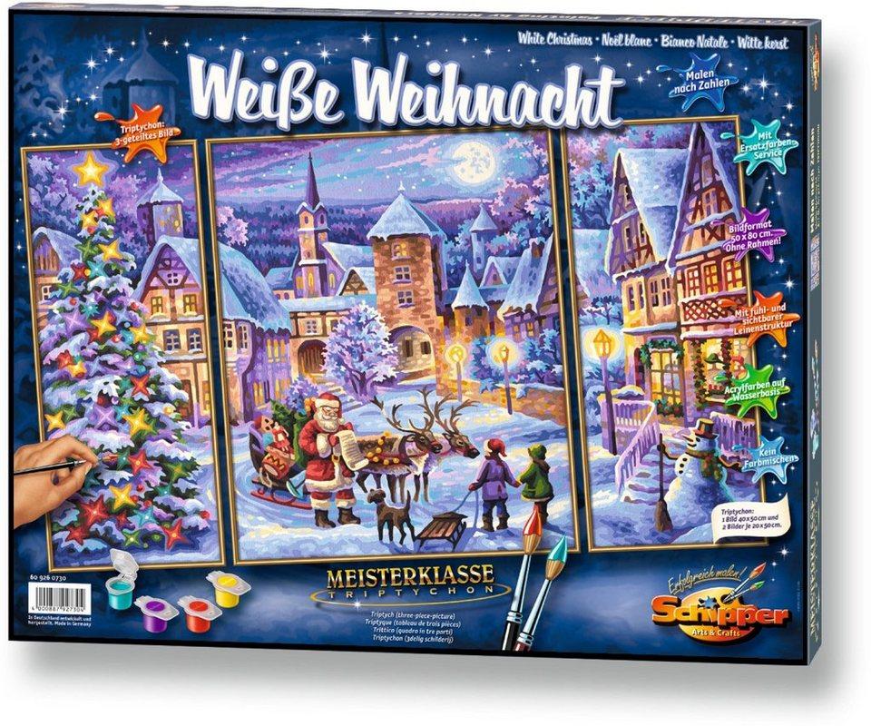 Schipper, Malen nach Zahlen, »Meisterklasse Triptychon Weiße Weihnacht«