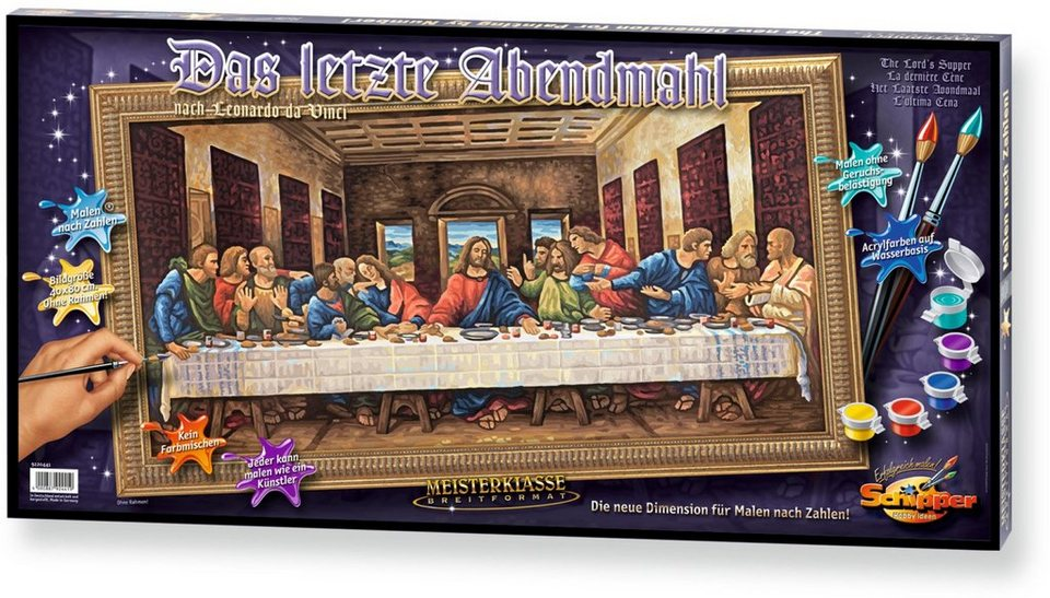 Schipper Malen nach Zahlen, »Meisterklasse Breitformat Das letzte Abendmahl«