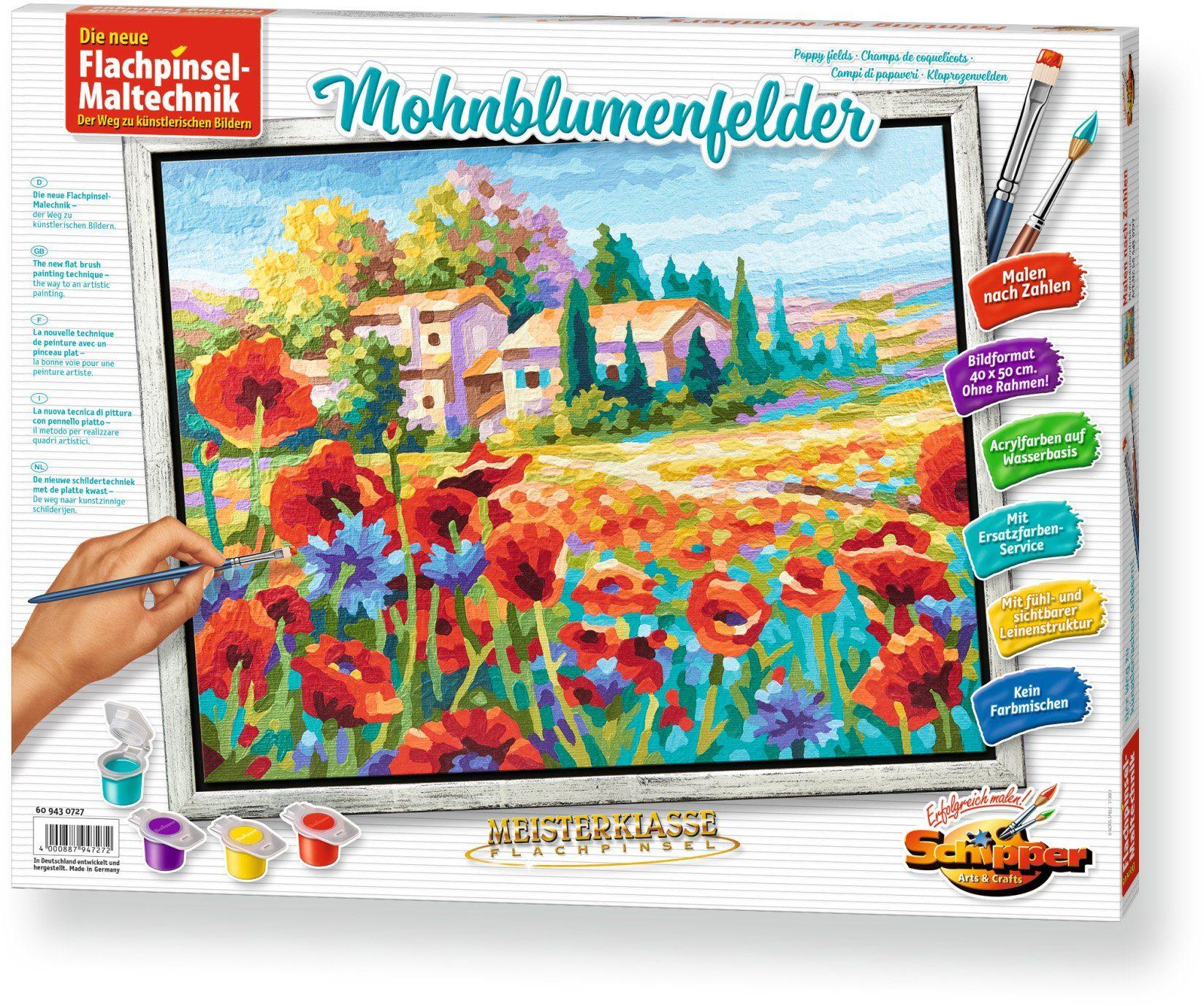 Schipper, Malen nach Zahlen, »Meisterklasse Premium Mohnblumenfelder«