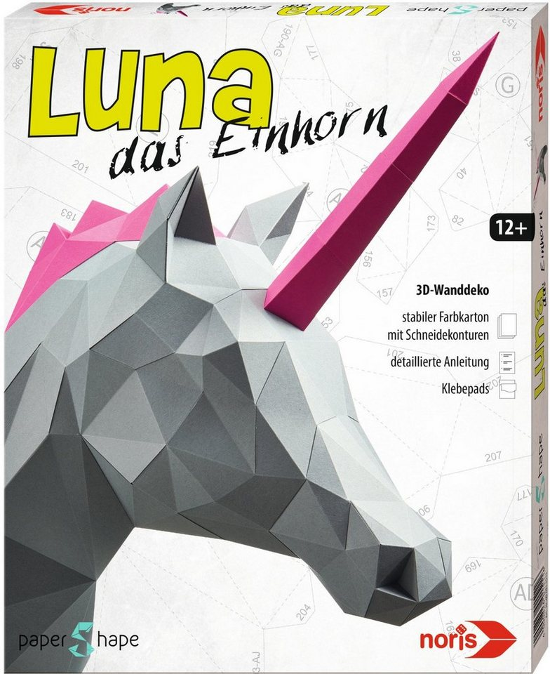 Noris, Bastelset, »Papershape Einhorn Luna«
