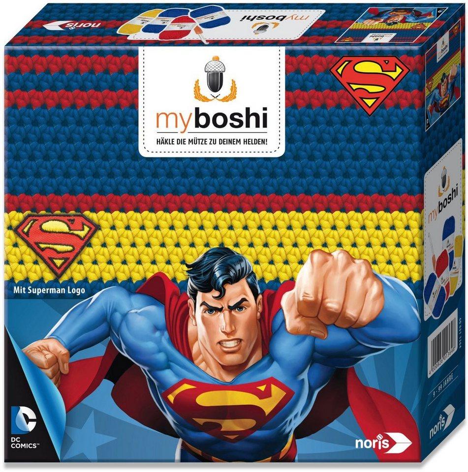 Noris Häkelmütze zum Selberhäkeln, »myboshi Superhelden Superman«