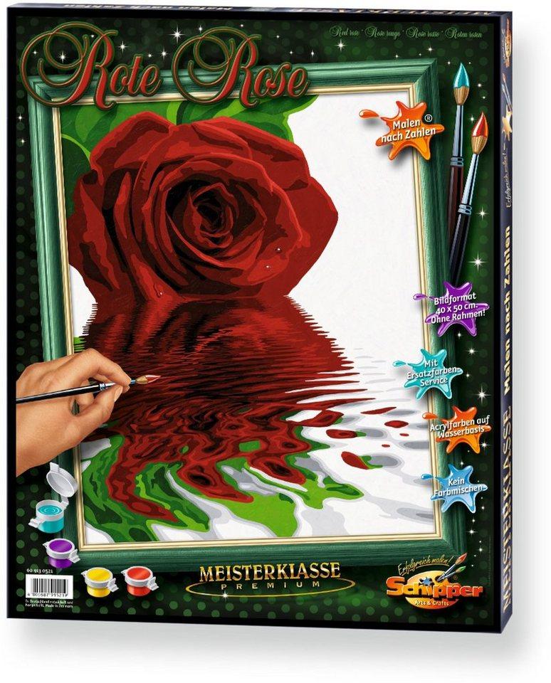 Schipper Malen nach Zahlen, »Meisterklasse Premium Rote Rose«