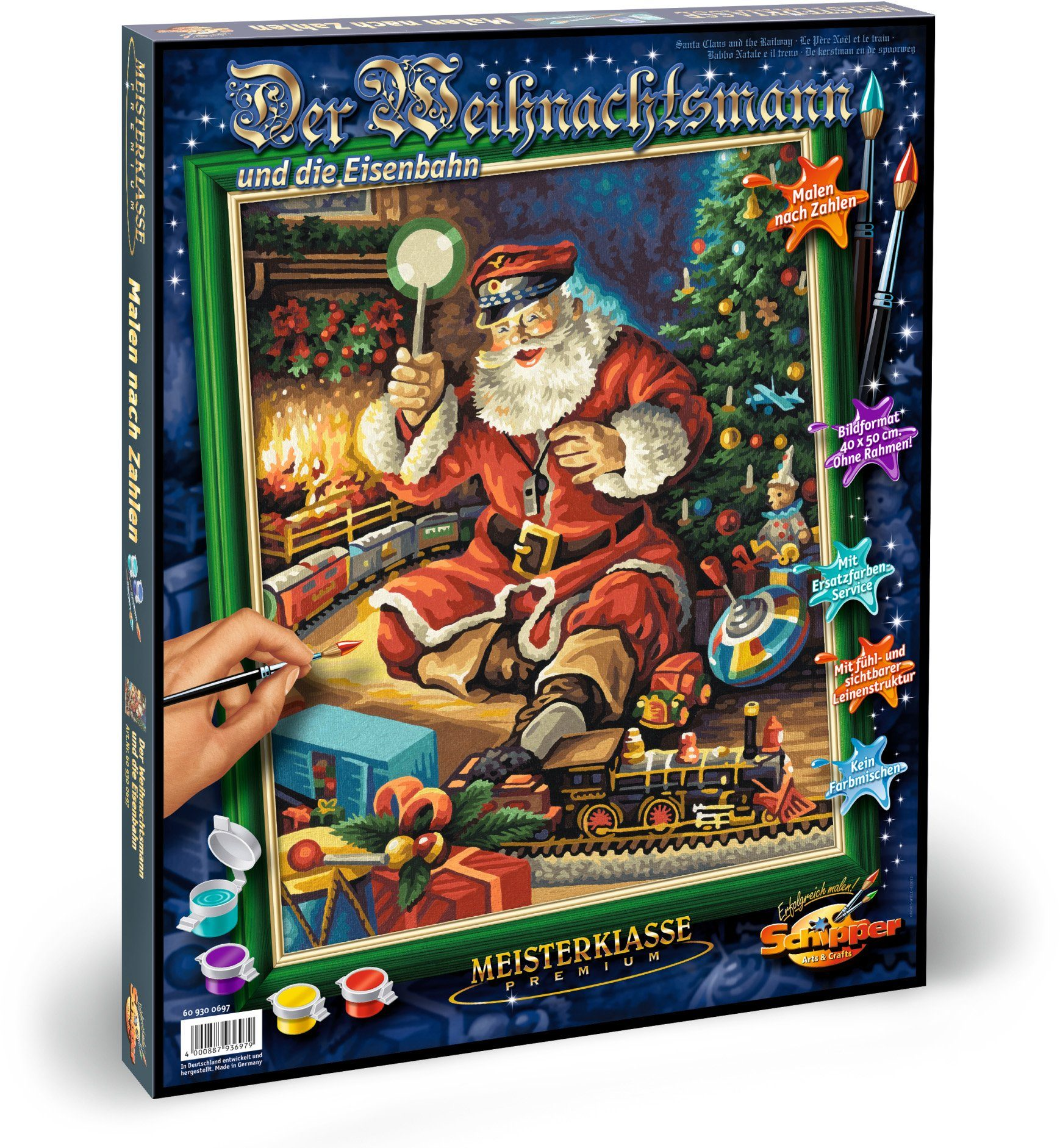 Schipper Malen nach Zahlen, »Meisterklasse Premium Weihnachtsmann Eisenbahn«
