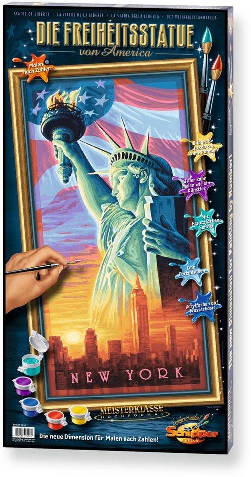 Schipper, Malen nach Zahlen, »Meisterklasse Hochformat Freiheitsstatue«