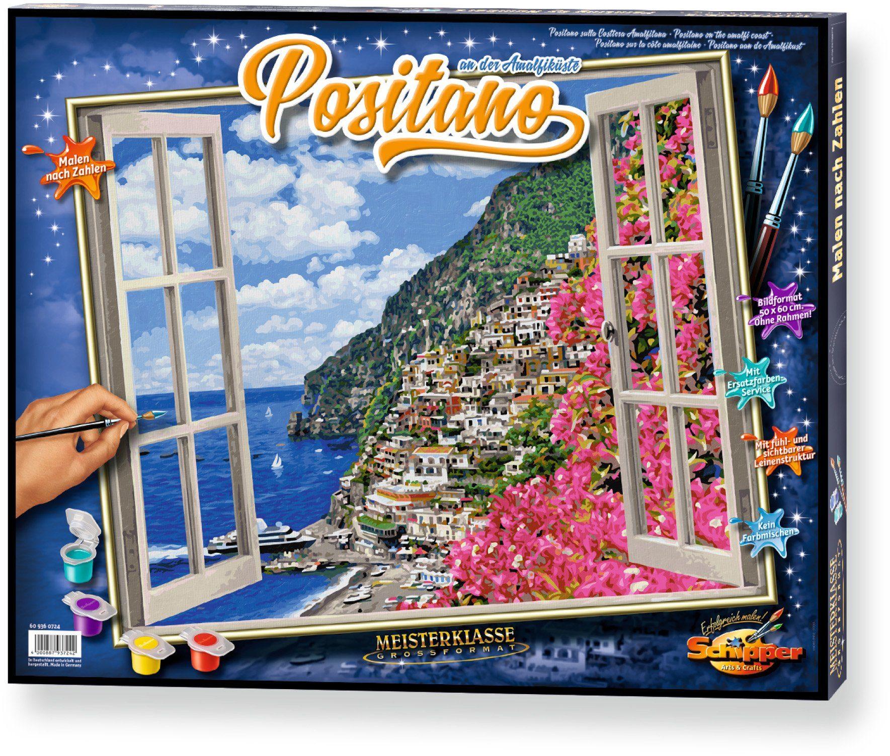 Schipper, Malen nach Zahlen, »Meisterklasse Großformat Positano an der Amalfiküste«