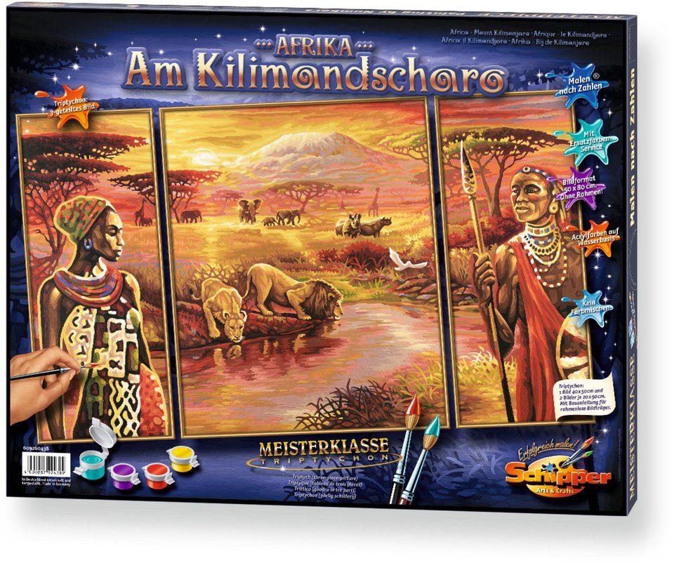 Schipper, Malen nach Zahlen, »Meisterklasse Triptychon Kilimandscharo«