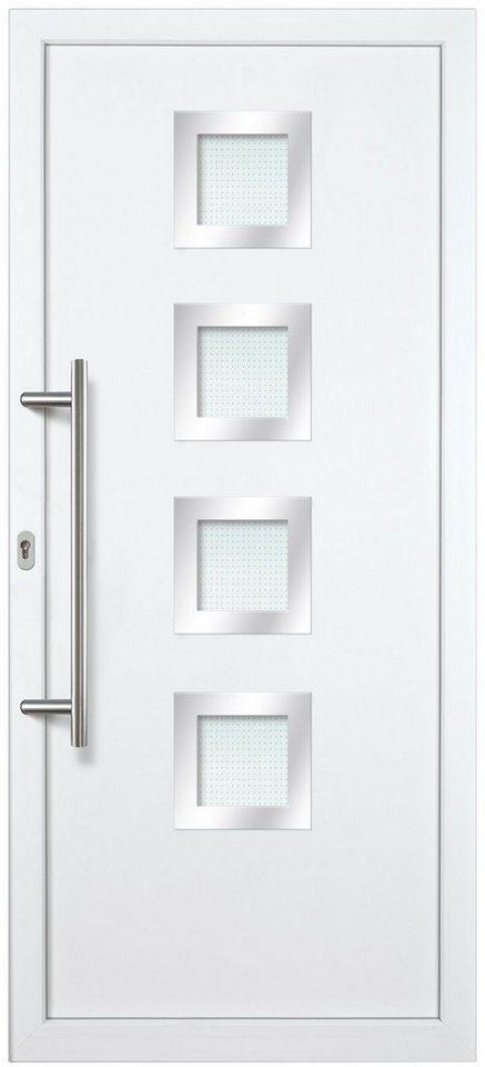 Kunststoff-Haustür »KA635 S2« nach Wunschmaß, Türanschlag rechts in weiß