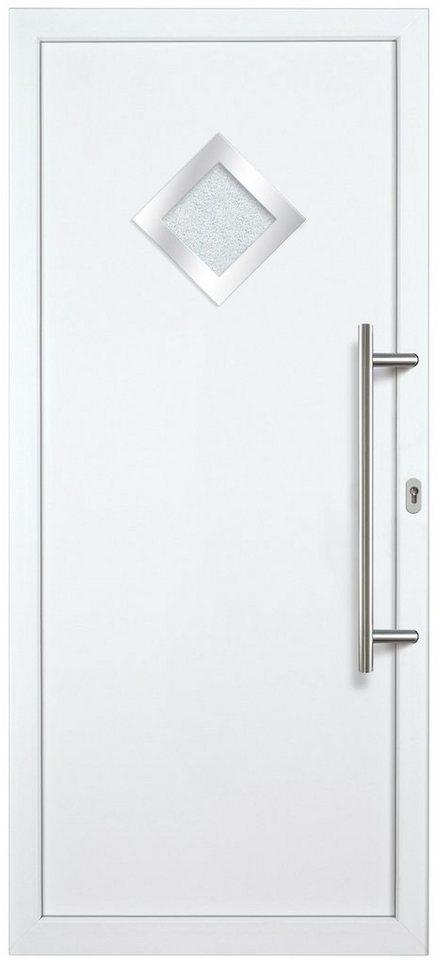 Kunststoff-Haustür »KA632 P« nach Wunschmaß, Türanschlag links in weiß
