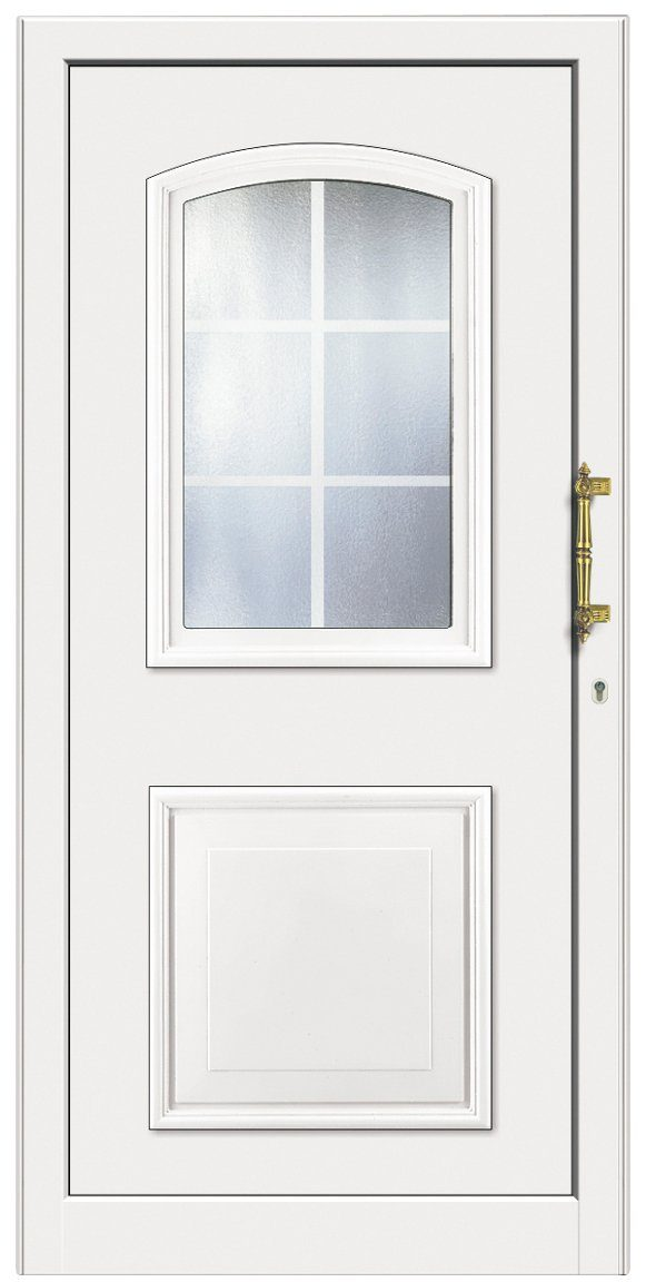 KM MEETH ZAUN GMBH Kunststoff-Haustür »KT258«, BxH: 98x208 cm, weiß, Anschlag links