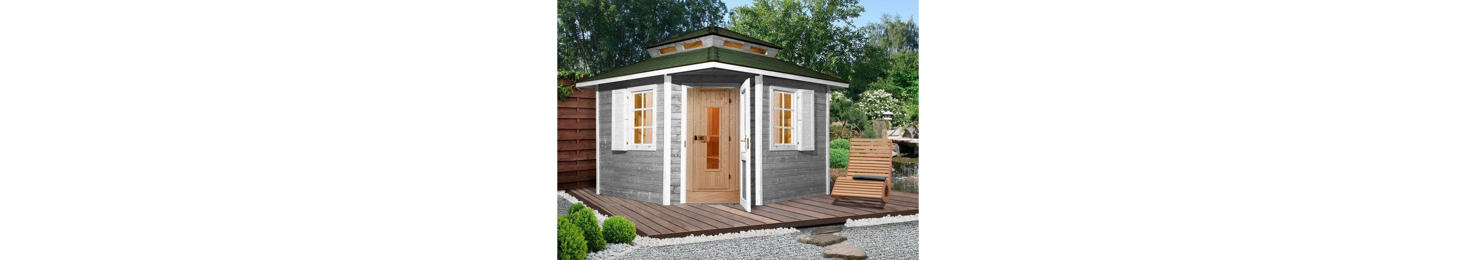 Sauna »149 OS«, 298/298/315 cm, 68 mm, 7,5 KW-Ofen