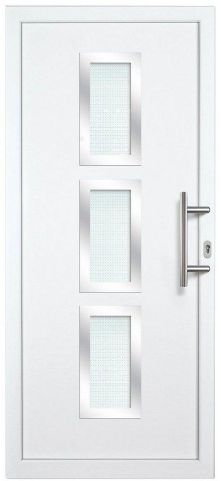 Kunststoff-Haustür »KA731 AS2-V2« nach Wunschmaß, Türanschlag links in weiß