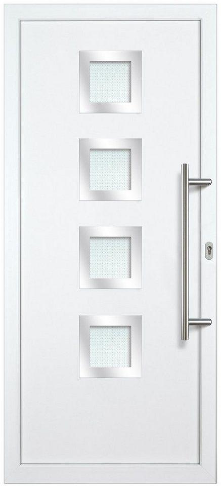 Kunststoff-Haustür »KA635 S2« nach Wunschmaß, Türanschlag links in weiß