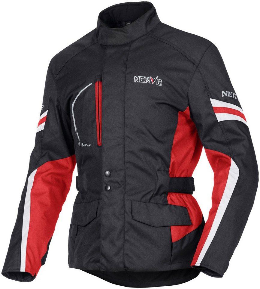 Motorradjacke »Nerve Travelling Jacke« in schwarz-rot