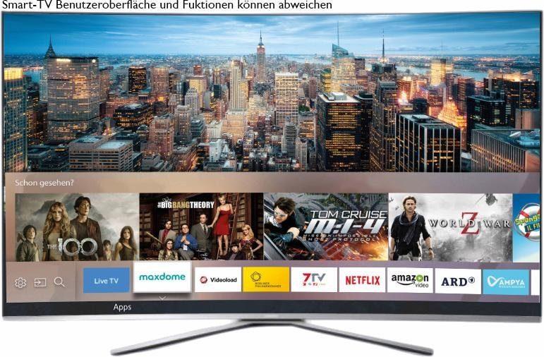 Samsung UE78KU6509UXZG, Curved-LED-Fernseher, 198 cm (78 Zoll), 2160p (4K Ultra HD), Smart-TV