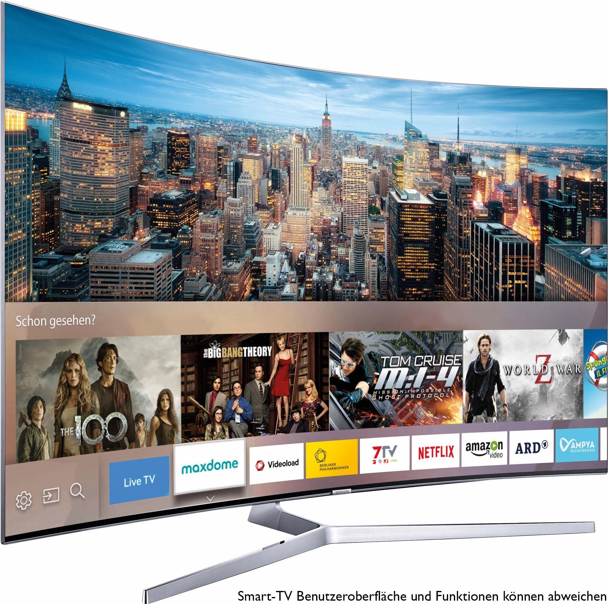 Samsung UE55KS9090TXZG, Curved-LED-Fernseher, 138 cm (55 Zoll), 2160p (SUHD), Smart-TV