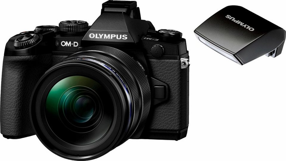Olympus OM-D E-M1 System Kamera, M.ZUIKO DIGITAL ED 12-40 1:2.8 Zoom, 16,3 Megapixel in schwarz