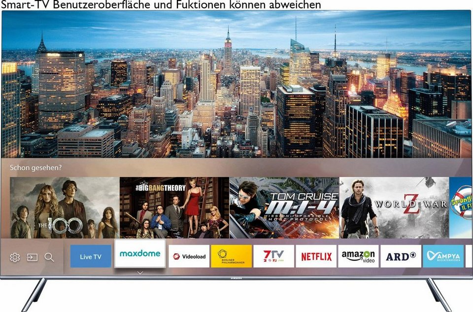 Samsung UE49KS7590UXZG, Curved-LED-Fernseher, 123 cm (49 Zoll), 2160p (SUHD), Smart-TV in silberfarben