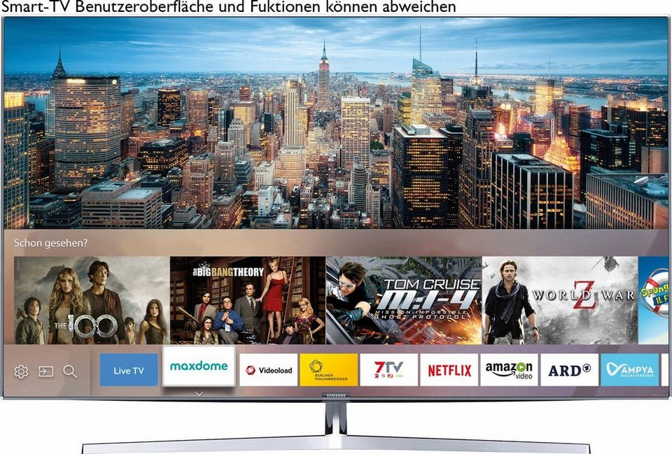 Samsung UE55KS8090TXZG, LED Fernseher, 138 cm (55 Zoll), 2160p (SUHD), Smart-TV in silberfarben