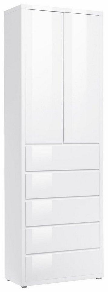 HMW Schuhschrank »Spazio« in weiß/weiß