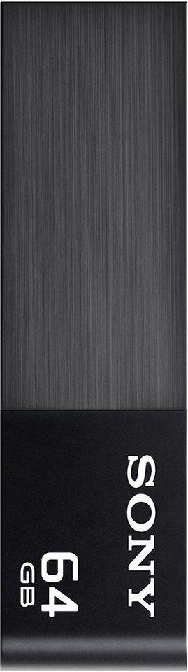 Sony USB 2.0 Stick 64GB, Micro Vault W, Black Metal in black