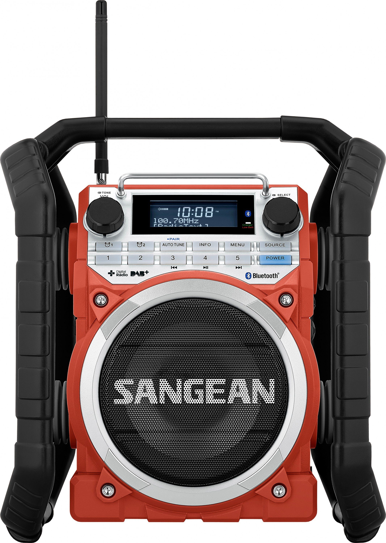 Sangean robustes Outdoor-/Baustellenradio (DAB+/UKW, Bluetooth, AUX-In) »U-4 DBT«