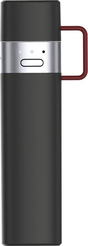 MiPow Handliche Powerbank mit integriertem Lightning Stecker »Powertube« in schwarz