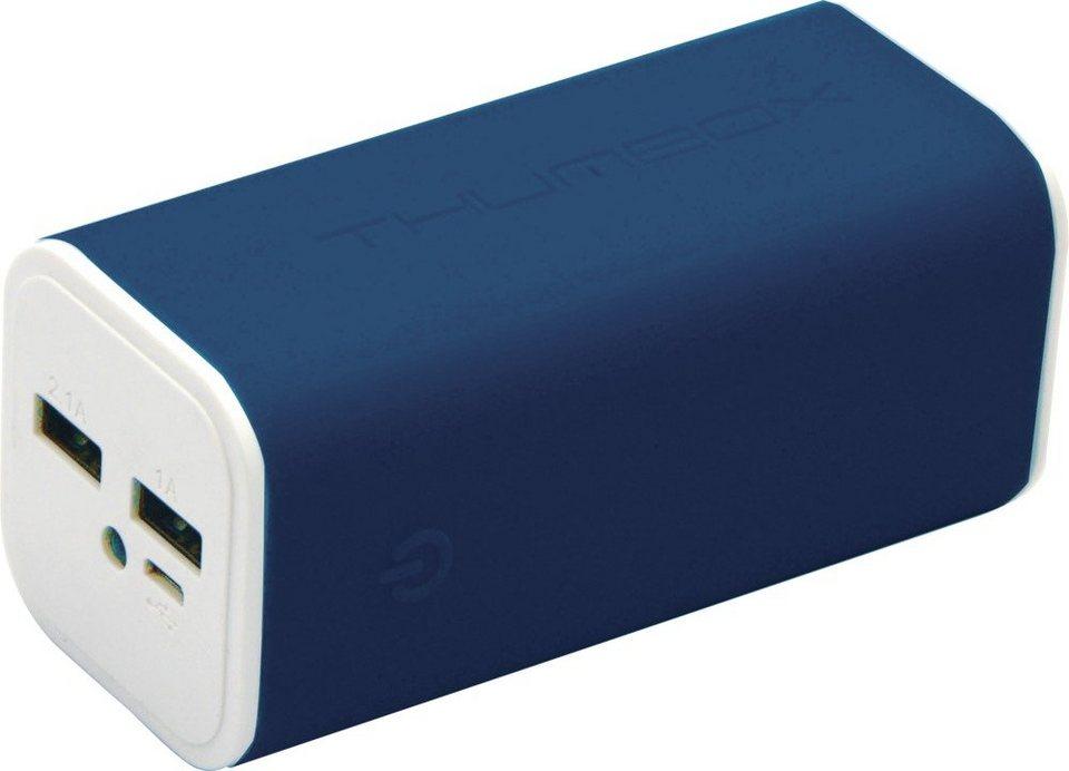 MiPow Mobile, 10.400 mAh starke Powerbank »Thumbox« in blau