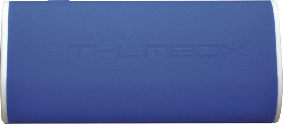 MiPow Mobile, 7.800 mAh starke Powerbank »Thumbox« in blau