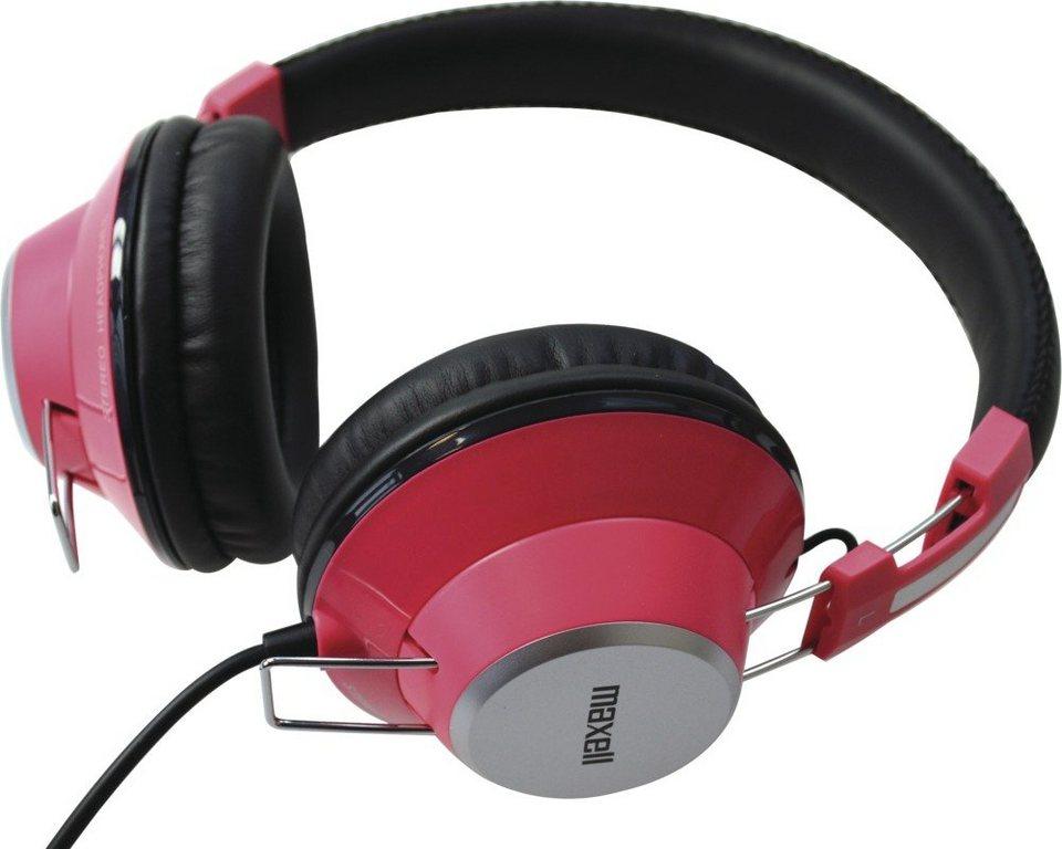 Maxell Bunter Stereokopfhörer »Retro DJ Colour« in pink/rosa