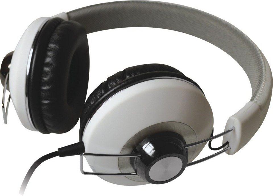 Maxell Stylischer Kopfhörer »Retro DJ« in weiß