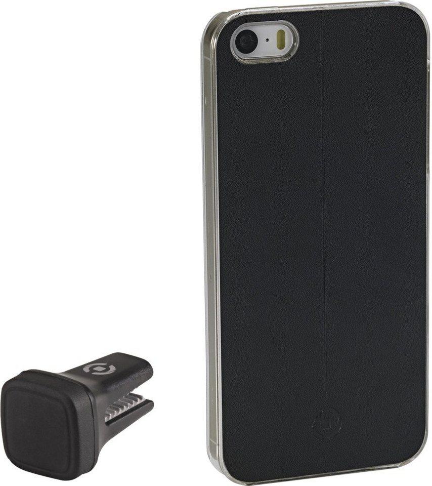 Celly Handyhülle mit Vent-Clip für das iPhone 5/5S/SE »Smart Drive« in schwarz