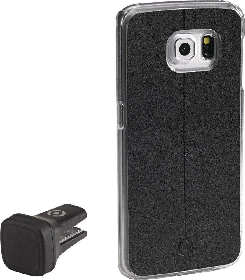 Celly Handyhülle mit Vent-Clip für das Galaxy S6 edge »Smart Drive« in schwarz