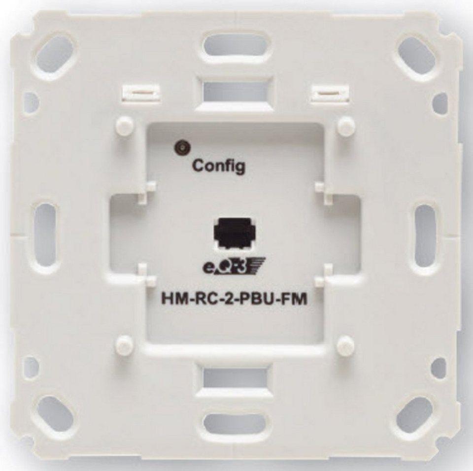 HomeMatic Smart Home Zubehör »Funk-Sender 2-fach für Markenschalter« in Weiß