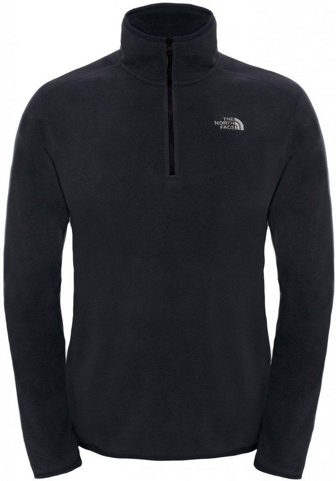 The North Face Pullover »100 Glacier 1/4 Zip Men« in schwarz