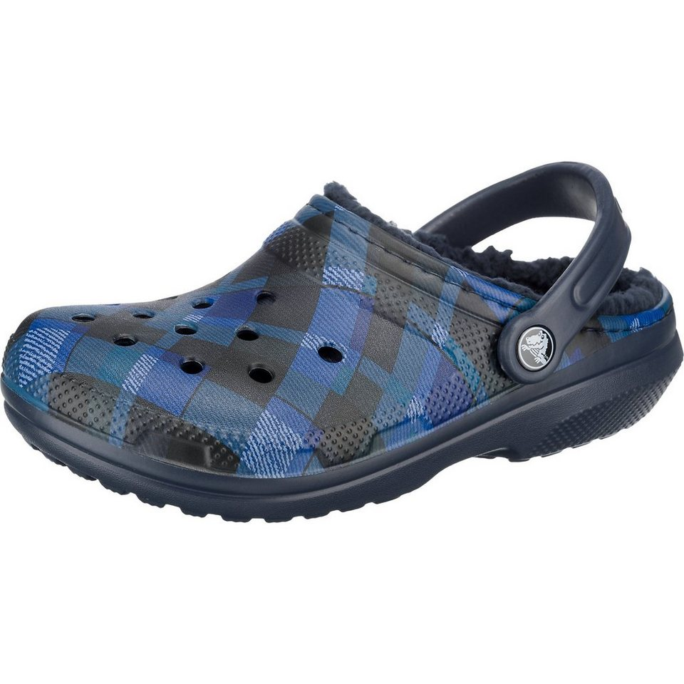 CROCS Classic Lined Graphic Pantoletten in navy