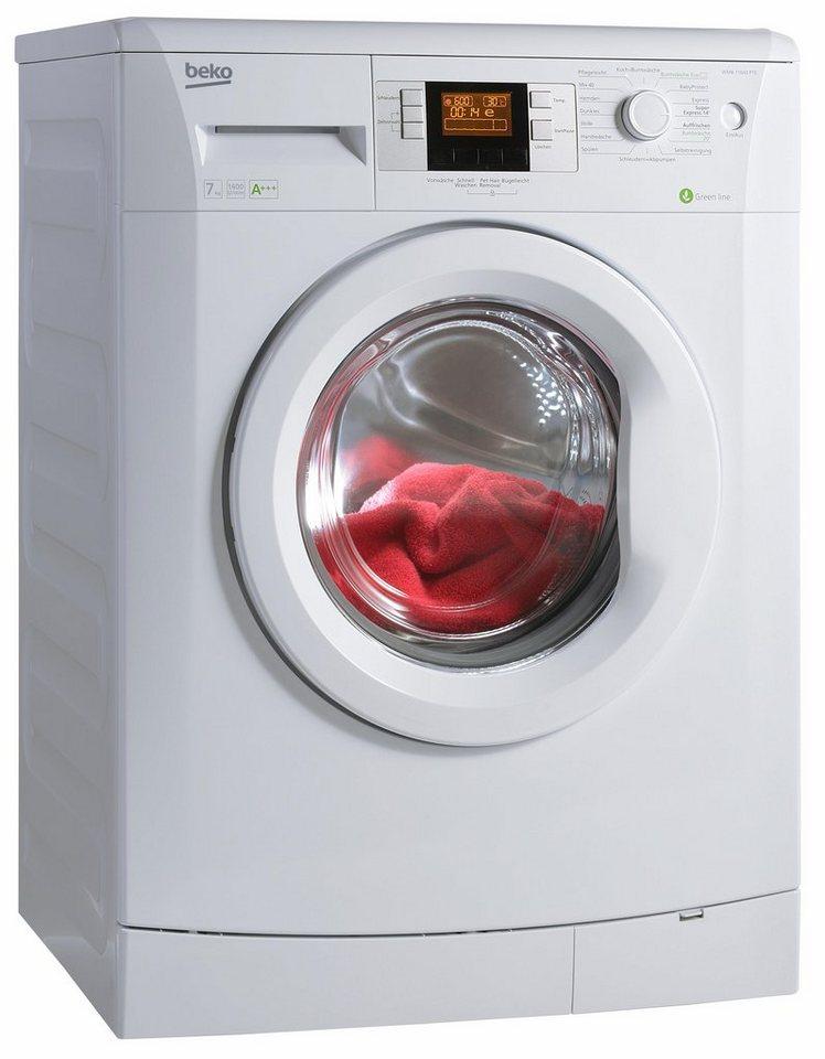 beko wmb 71643 waschmaschine pte frontlader a 1600 upm 7 kg altes modell. Black Bedroom Furniture Sets. Home Design Ideas