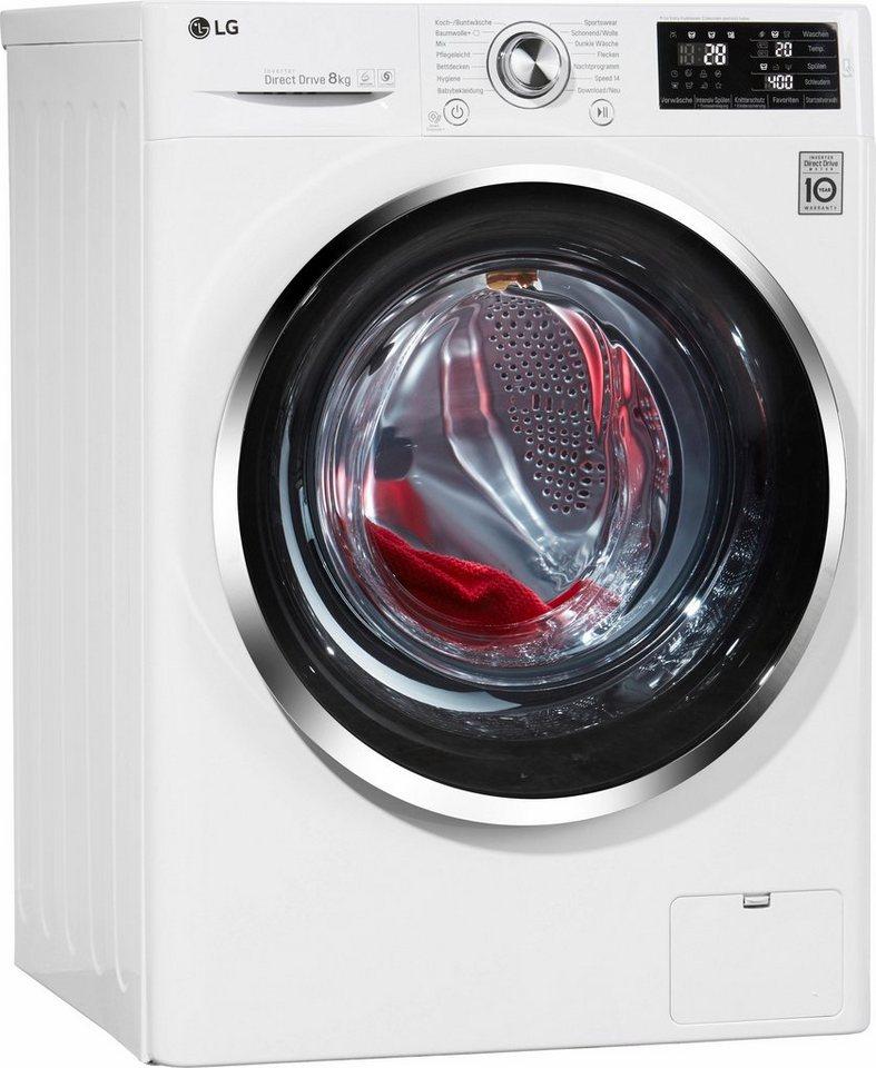 LG Waschmaschine F 14U2 TCN2H, A+++, 8 kg, 1400 U/Min in weiß