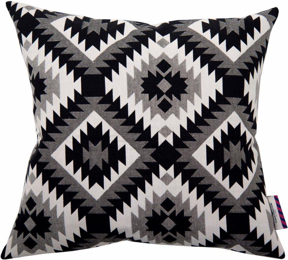 Kissenhüllen, Tom Tailor, »Ethnic Pattern« (1 Stück) in schwarz