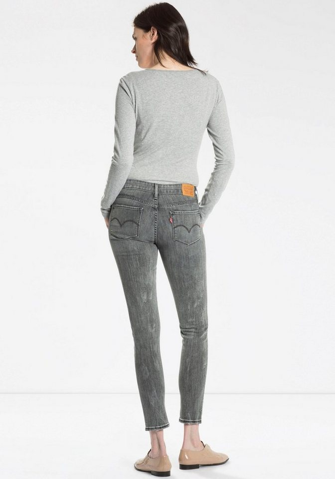 Levi's® Skinny-fit-Jeans destroyed Effekte in grey-used