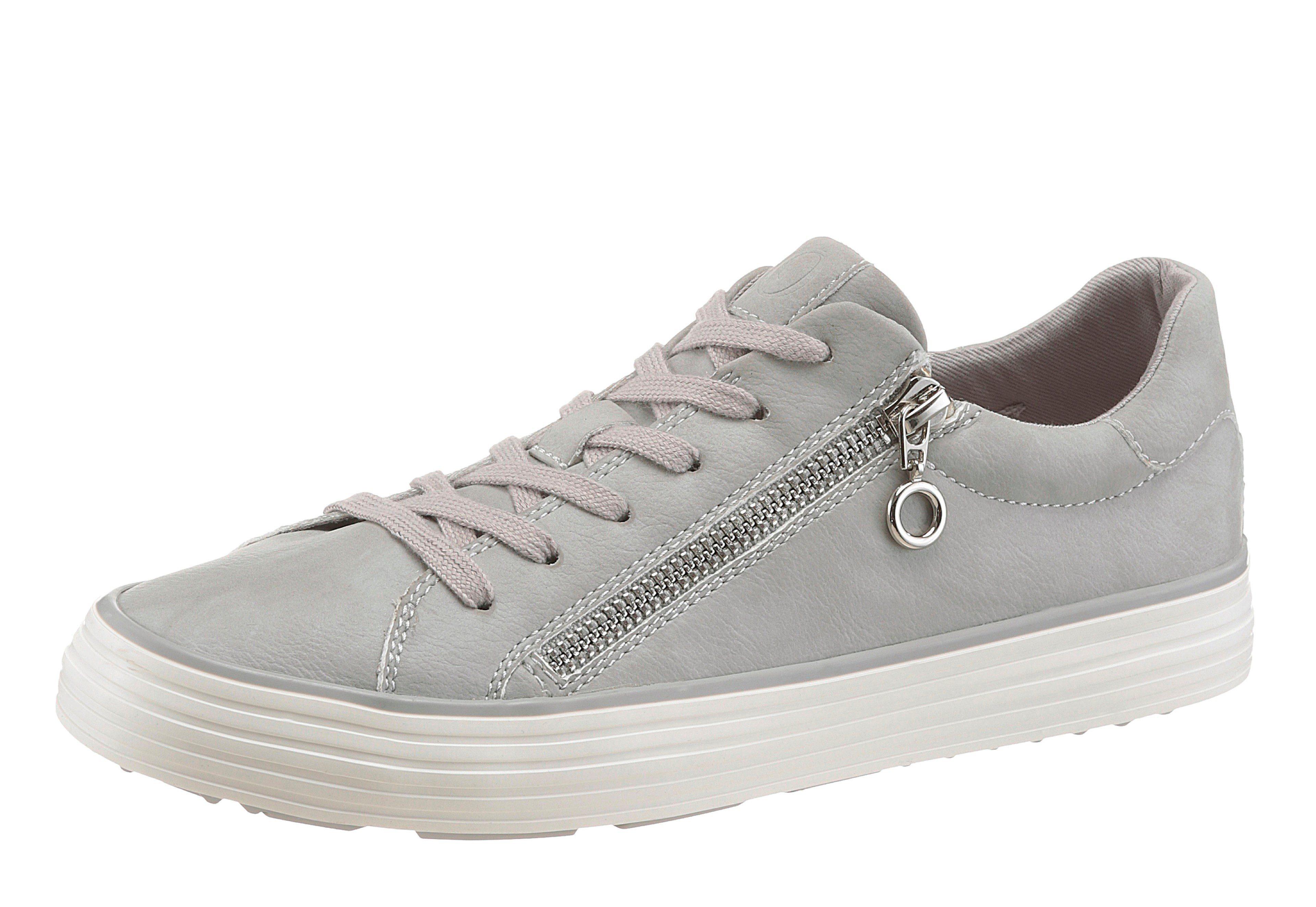 s.Oliver RED LABEL Sneaker, mit Zierreißverschluss außen, weiß, 39 39