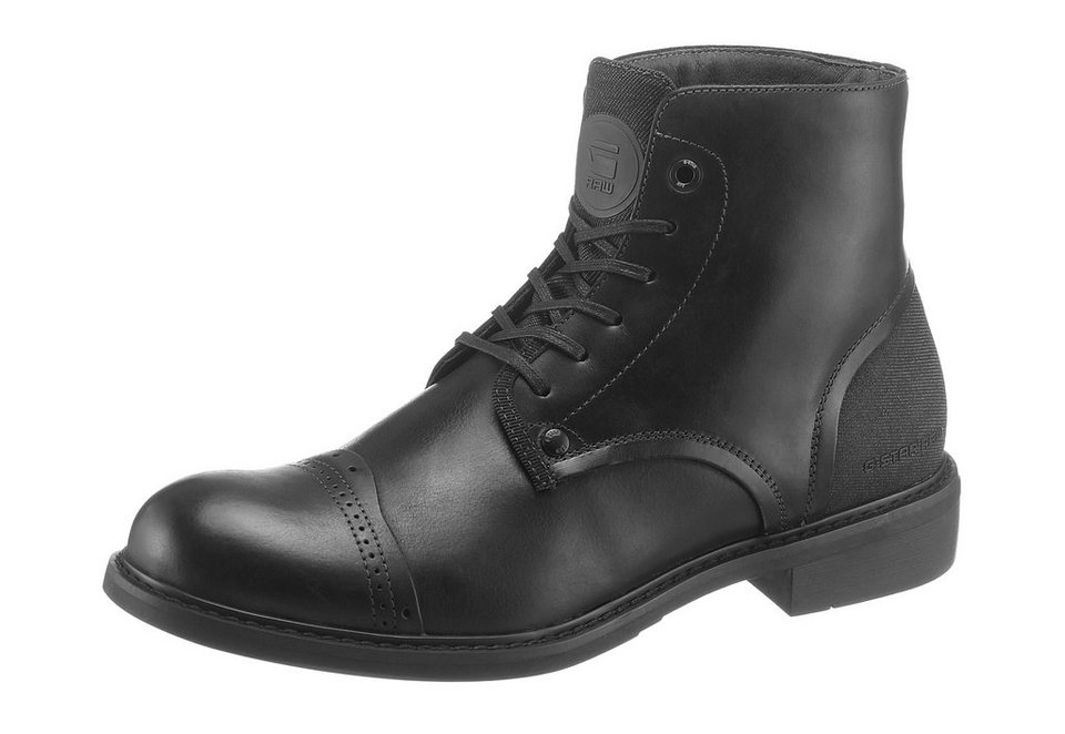 G-Star »Warth Boot« Stiefelette mit Perforierung auf dem Blatt in schwarz