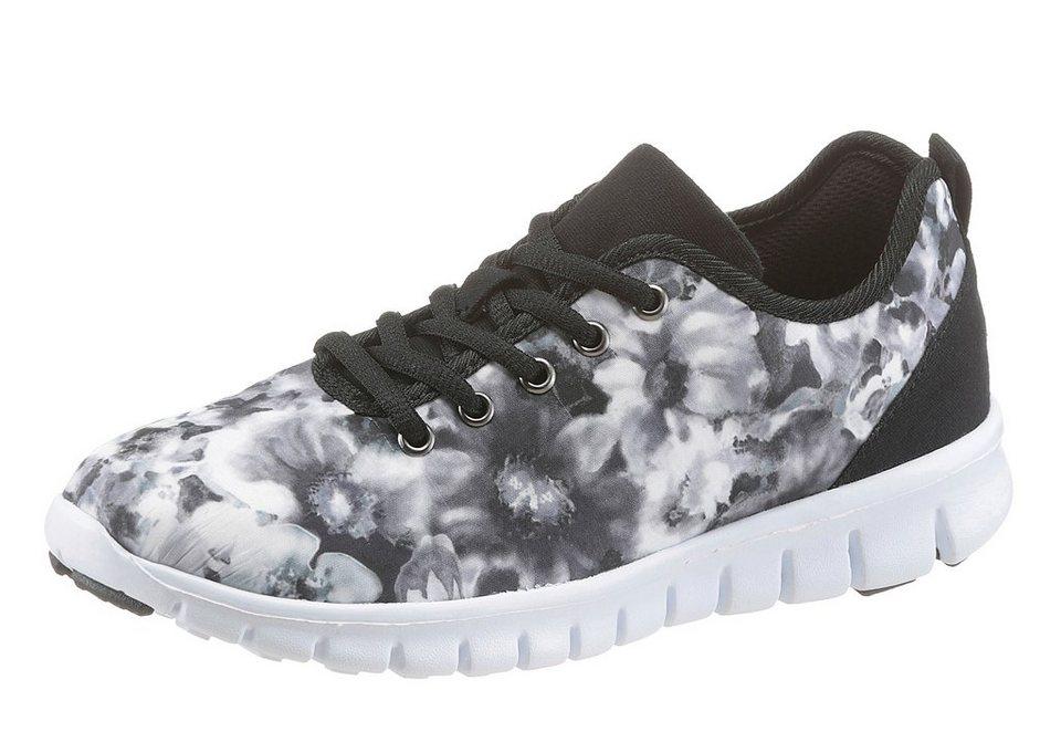 CITY WALK Sneaker mit trendigem Muster in schwarz-weiß