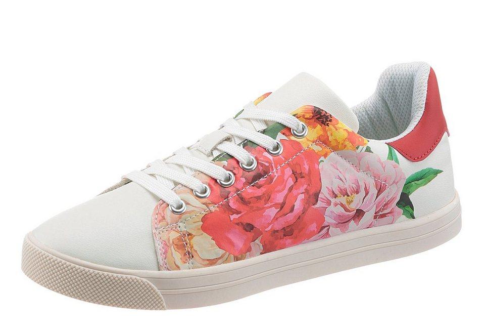 CITY WALK Sneaker mit trendiger weißer Laufsohle in weiß-multi