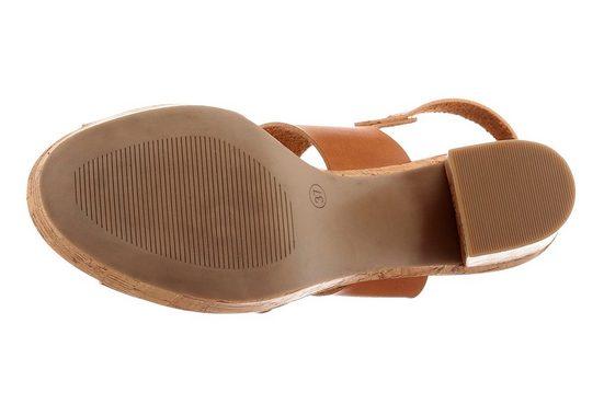 Arizona Sandalette, mit Sohle in Kork-Optik